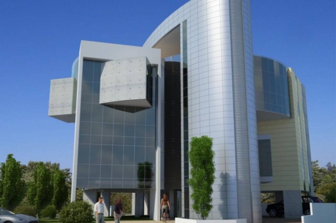 3d exterior design showcase for Exterior office design