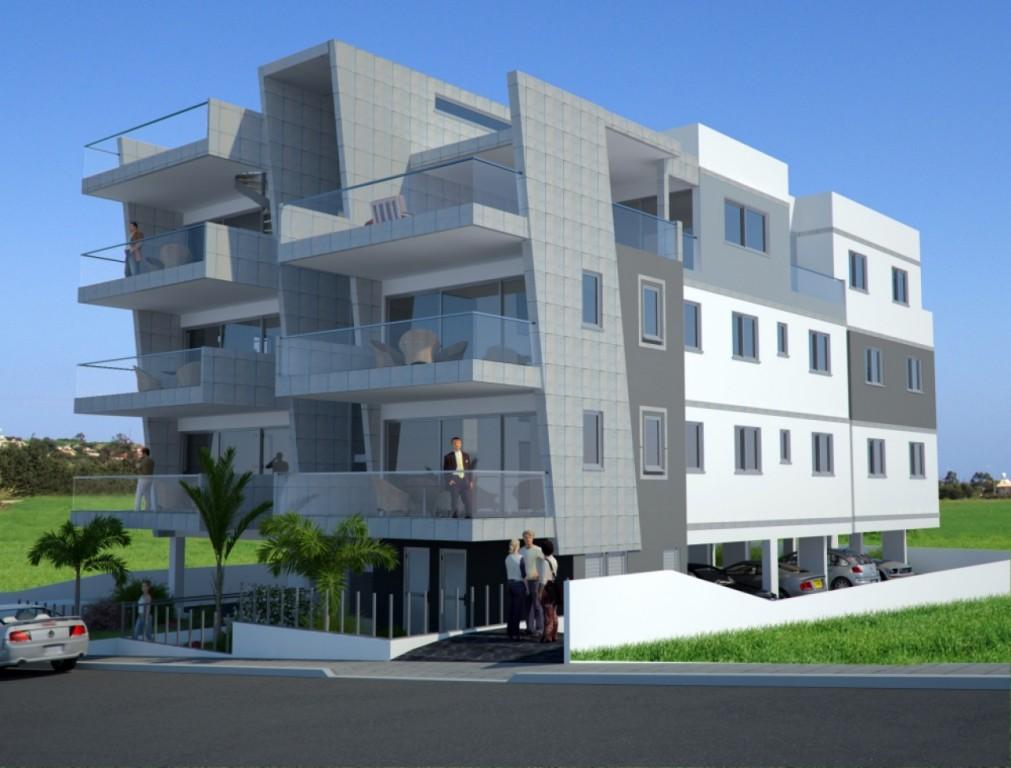 3d exterior design showcase for Apartment block plans