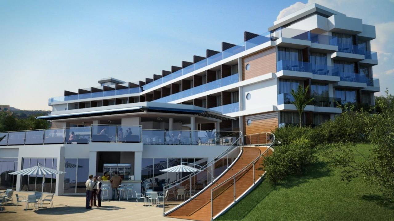 3d exterior design showcase for Design boutique hotel alacati