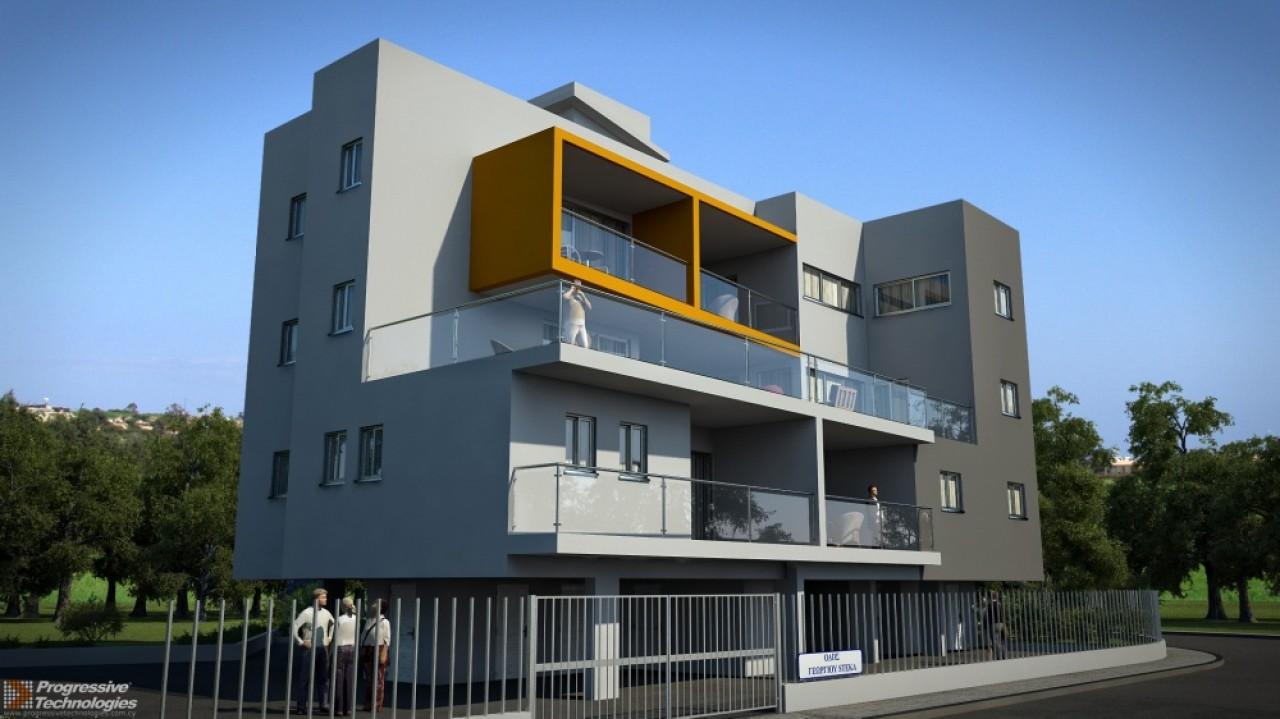 3D Exterior Design - Showcase Apartment Building Design In 3d