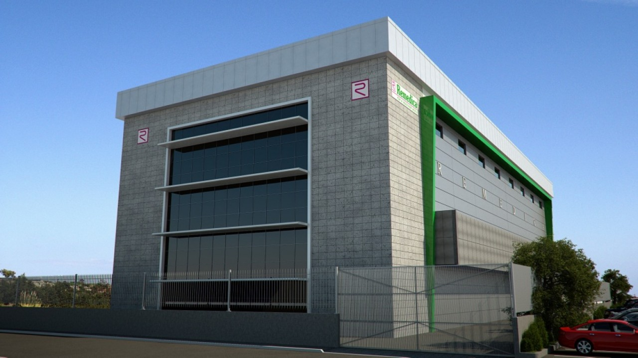 The gallery for warehouse exterior design for Exterior 3d design